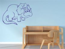 Dinosaur Triceratops Wall Art Sticker, Vinyl Sticker, Decal, Modern Transfer